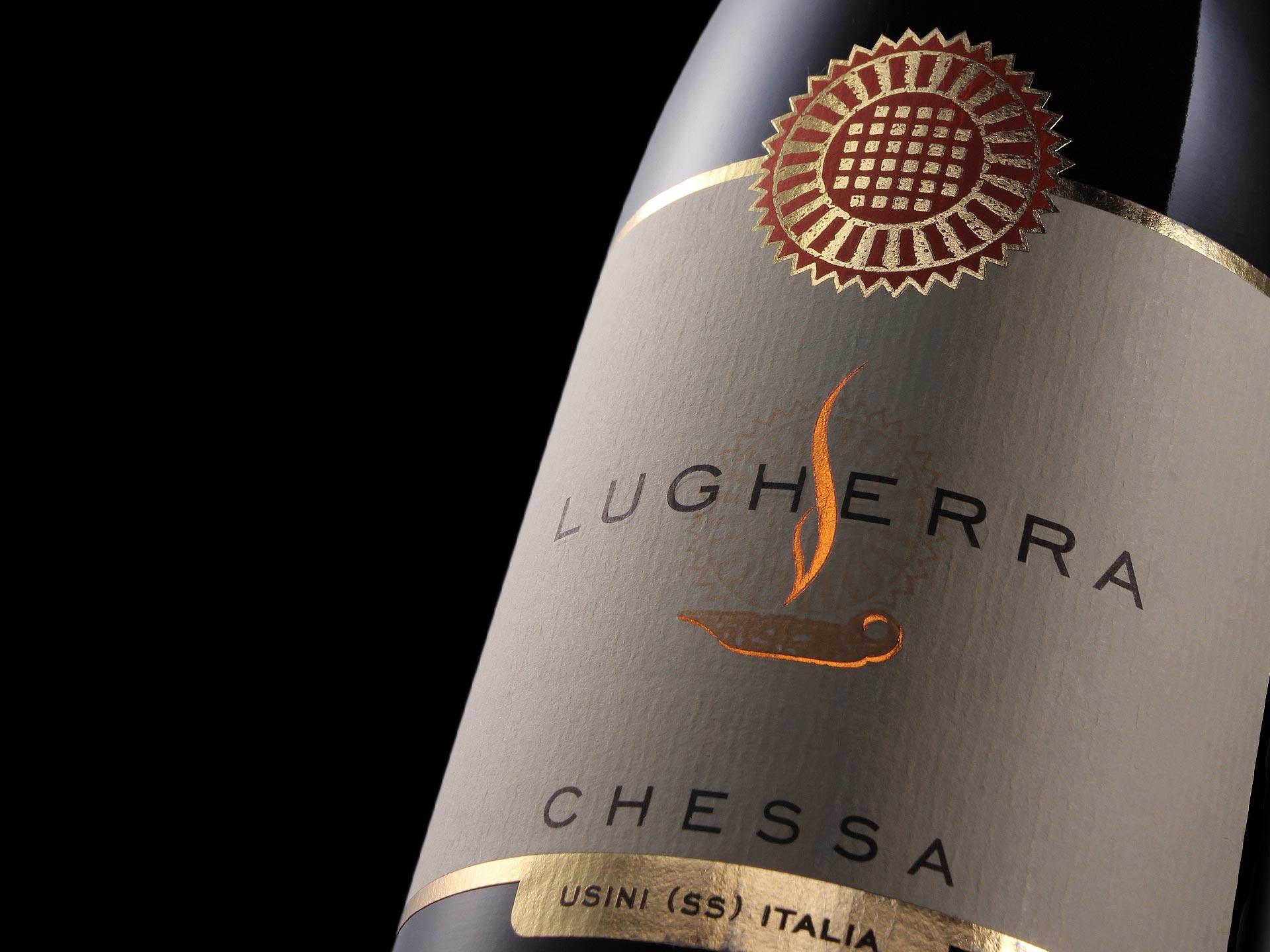 Studio etichetta vino - Lugherra - Cantine Chessa
