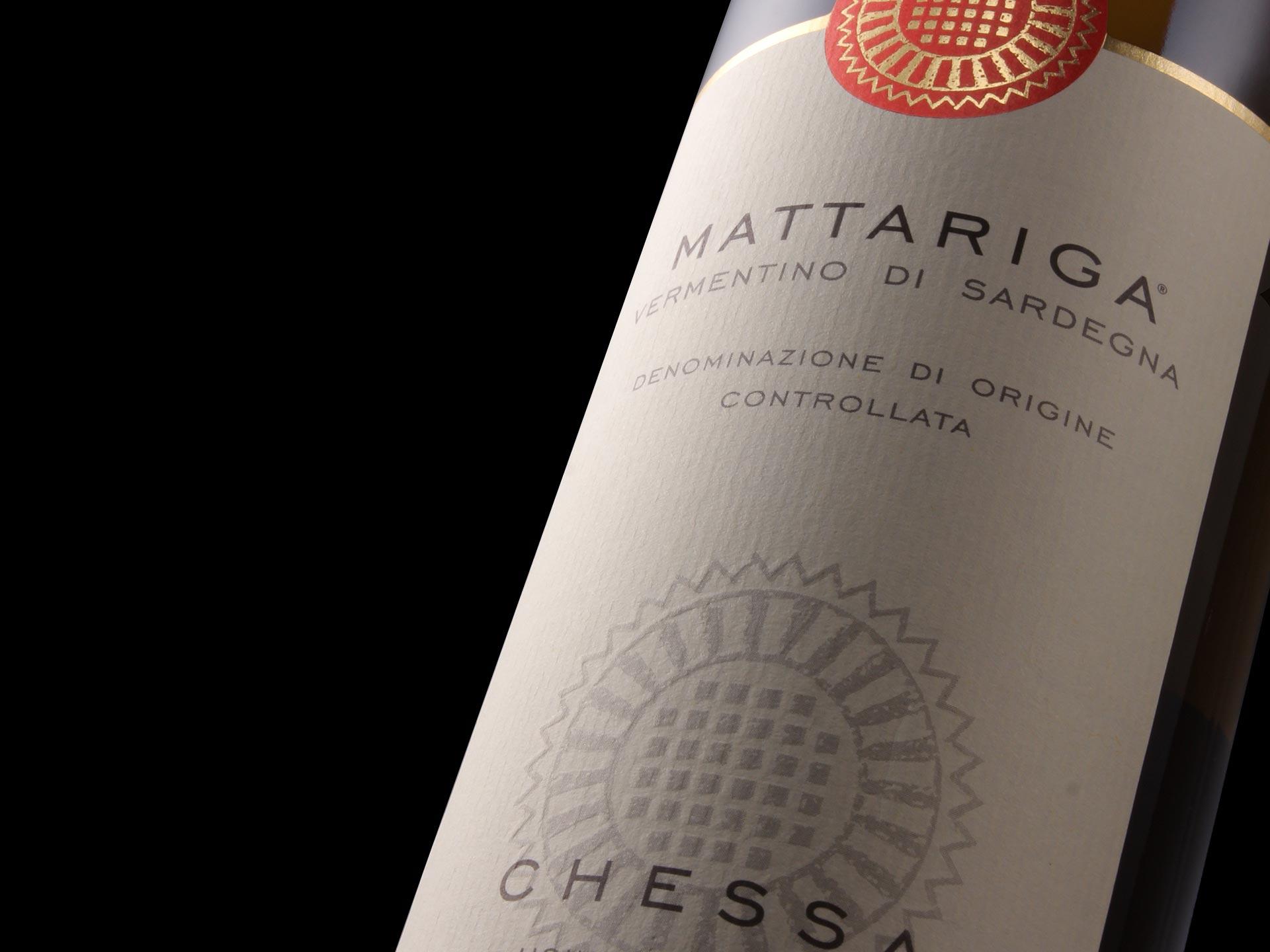 Design packaging vino - Mattariga - Cantine Chessa