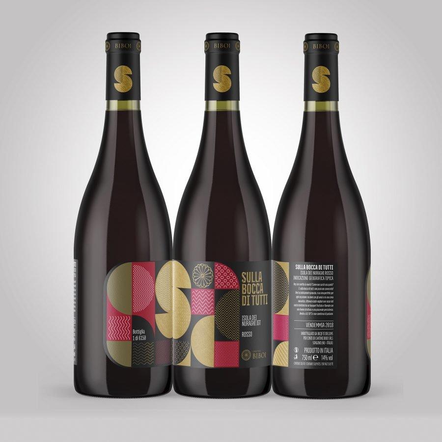 Design etichette vini Biboi - RedfishAdv