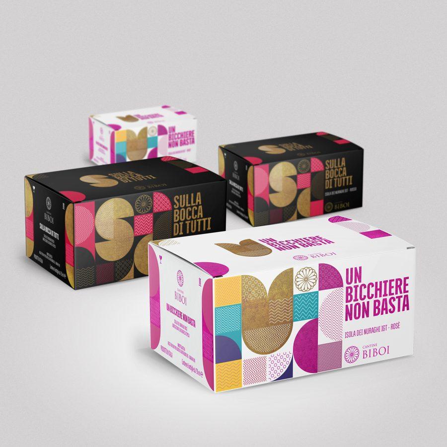 Packaging design scatole vino - RedfishAdv