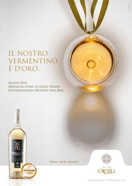 Pubblicità vino Selenu - Tenute Gregu