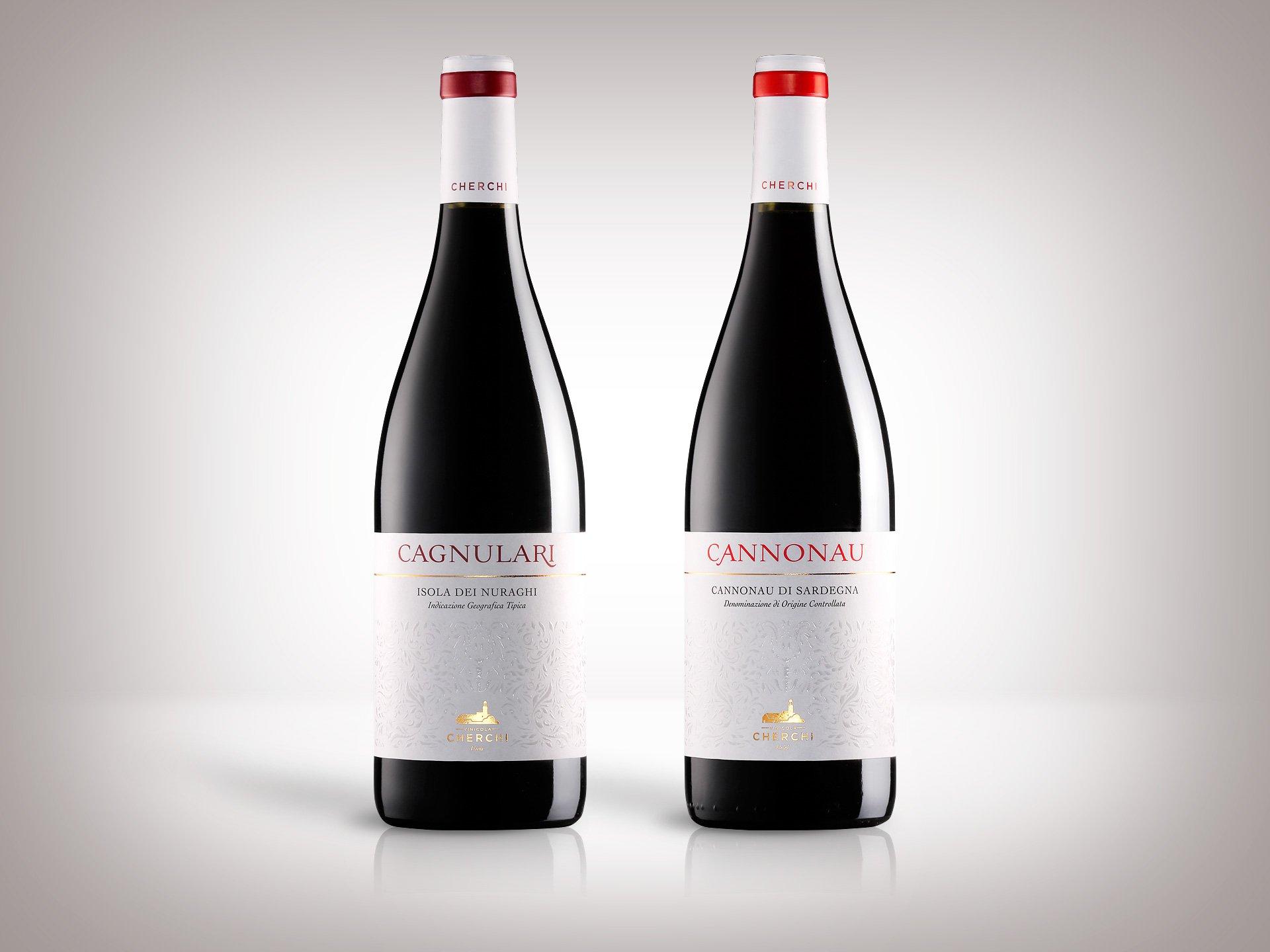 Restyling etichette vini Cagnulari e Cannonau Vinicola Cherchi