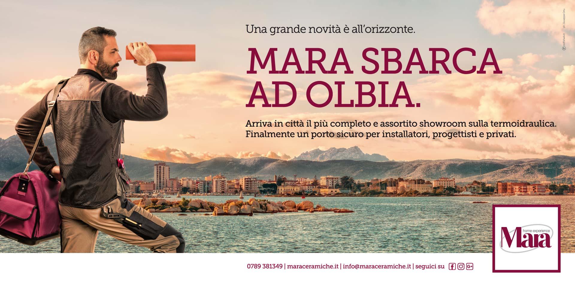 Poster per Mara Ceramiche - Nuova apertura Olbia