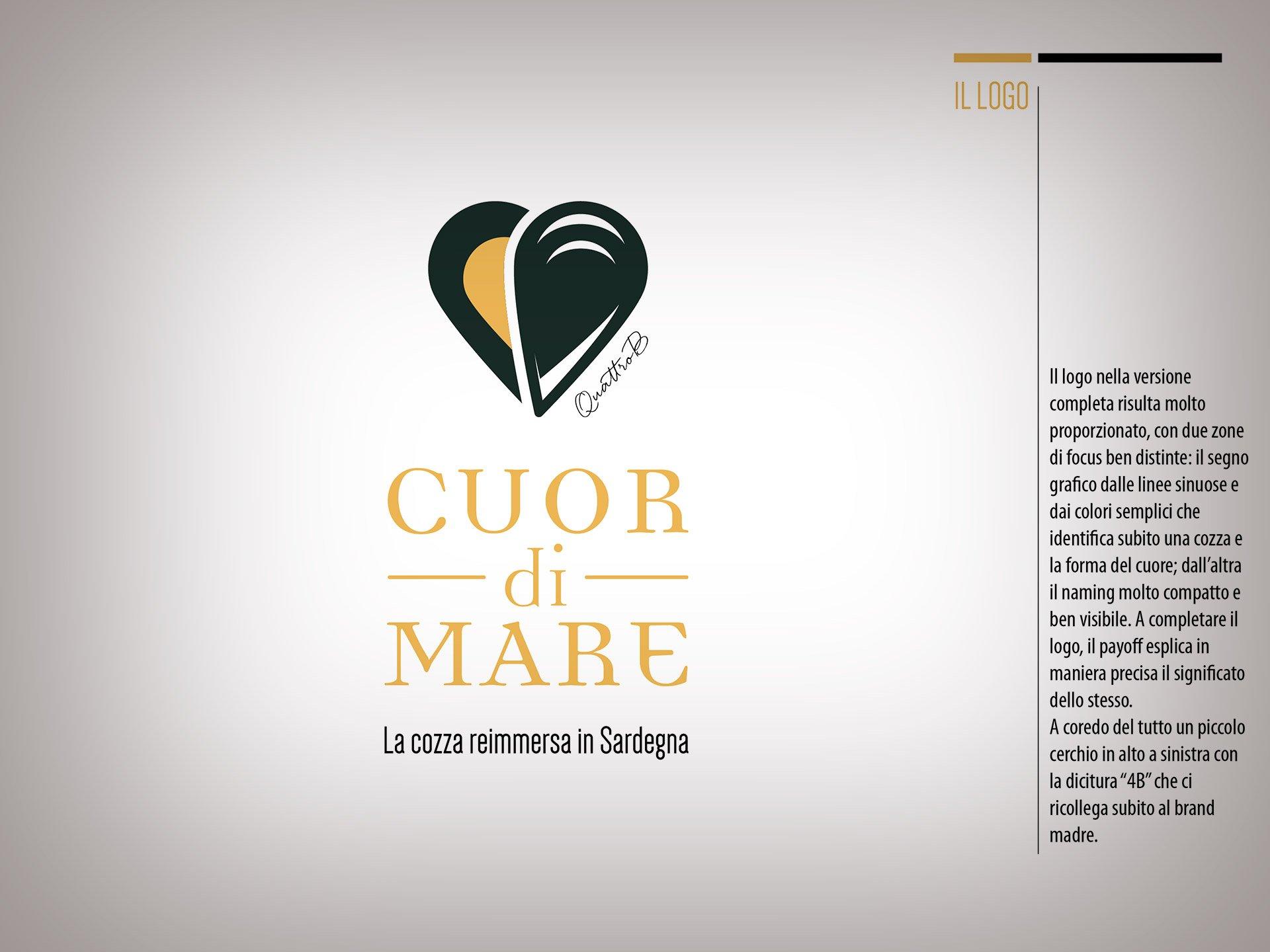 Logo e payoff Cuor di Mare QuattroB