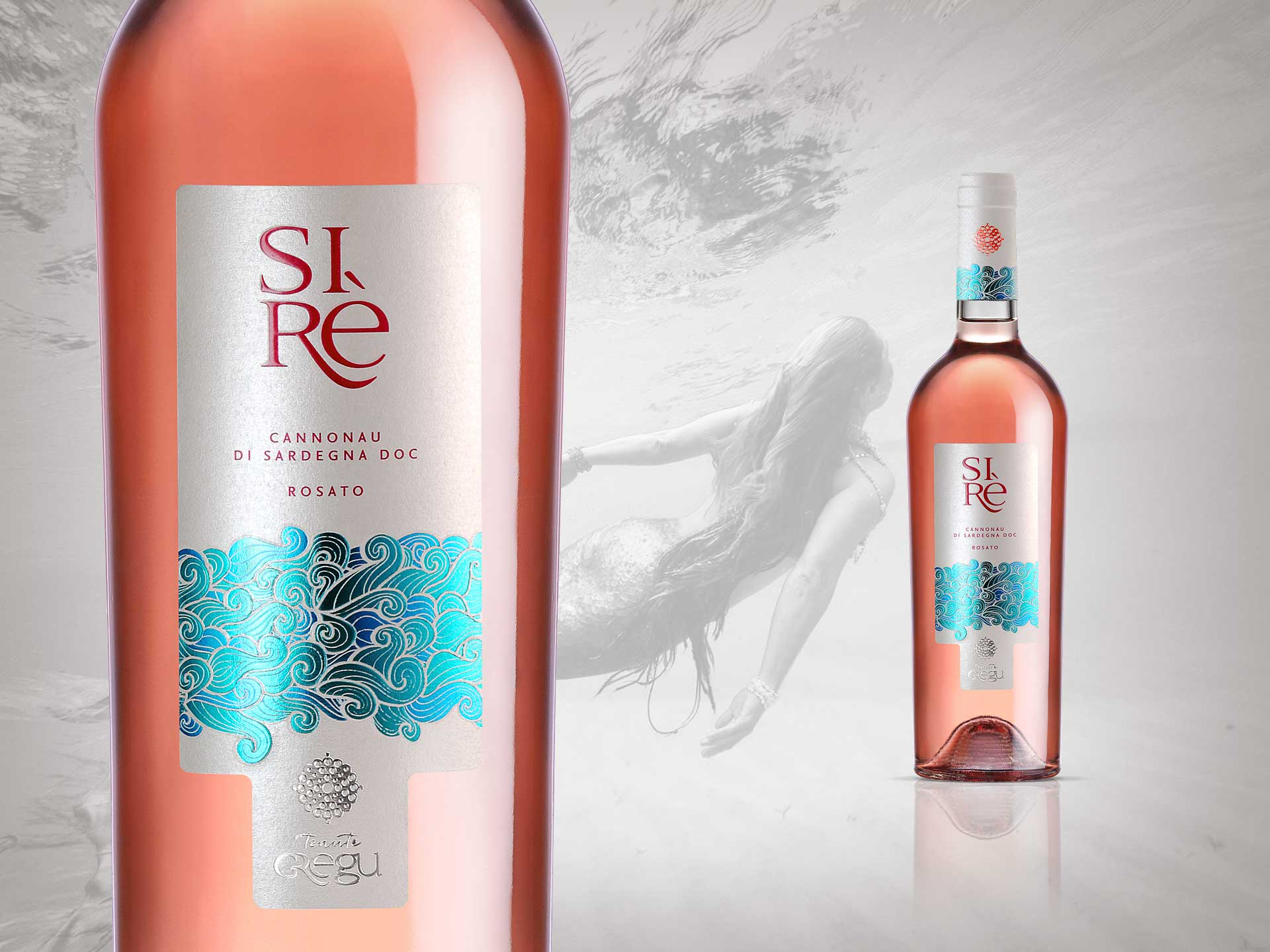 Packaging designi etichetta vino Sirè