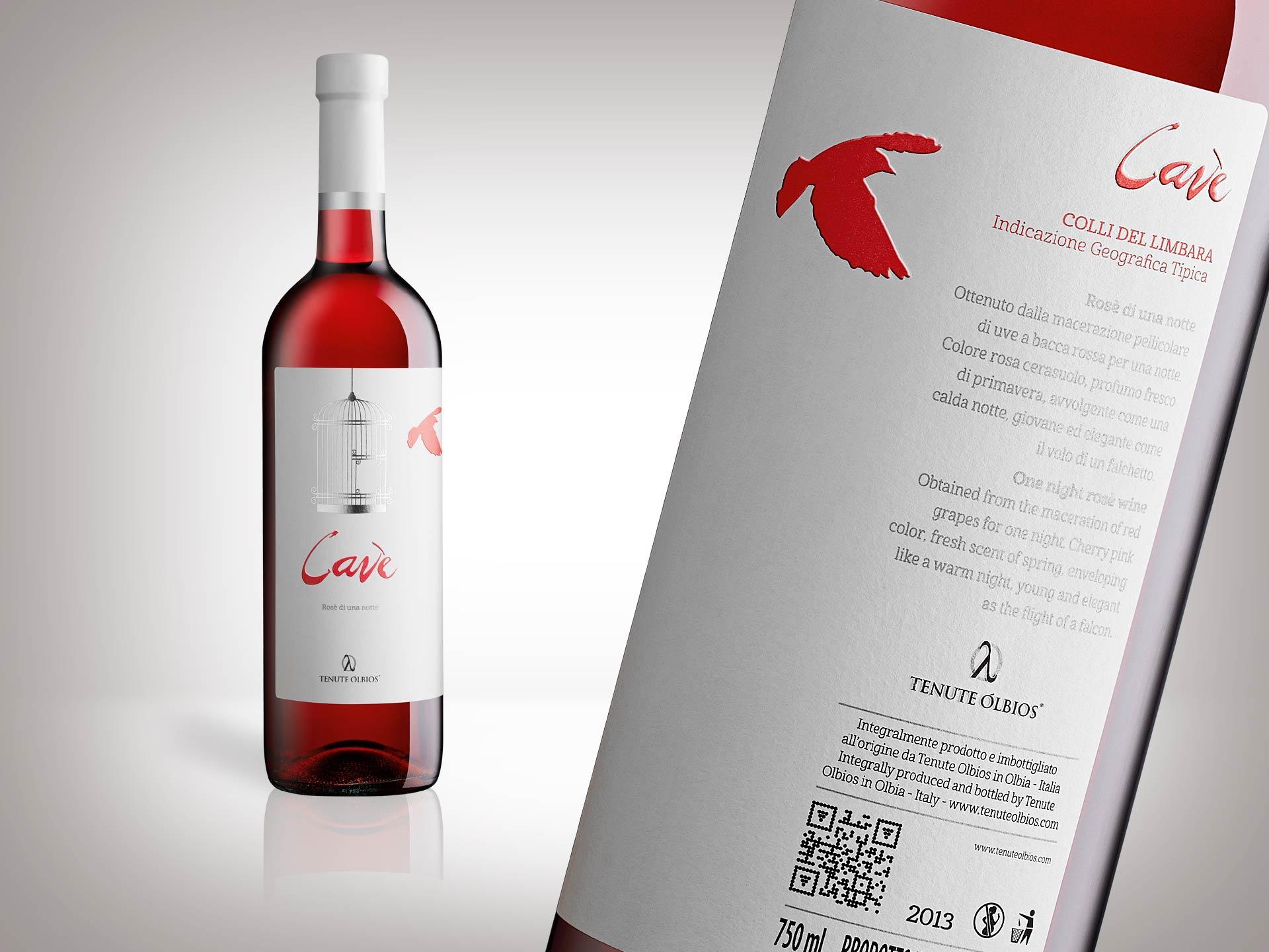 Retro etichetta vino Cavè Tenute Olbios