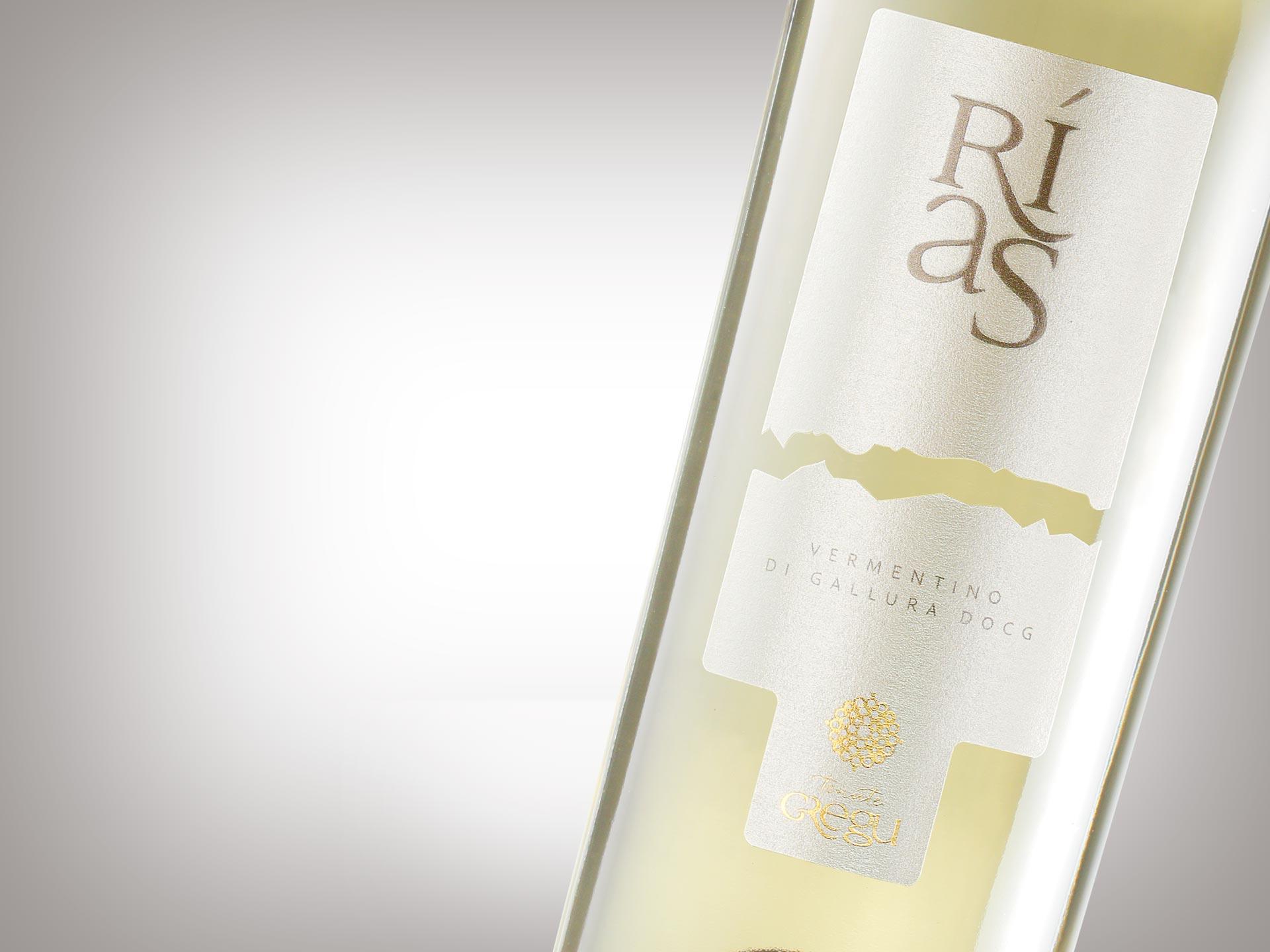 Etichetta vino Rias - Tenute Gregu