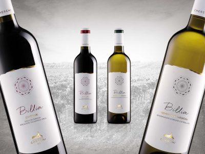 Etichette vini Linea Billia - Vinicola Cherchi