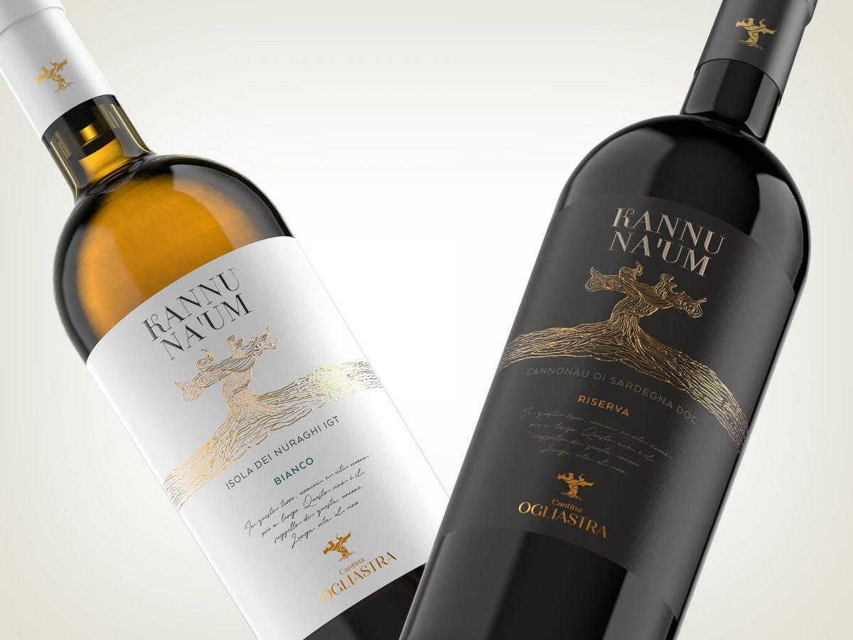 Design etichette vini Kannu Na 'Um - Cantina Ogliastra
