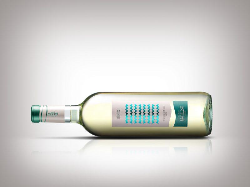 Design dell'etichetta del vino Dunosu - Cantina Li Duni