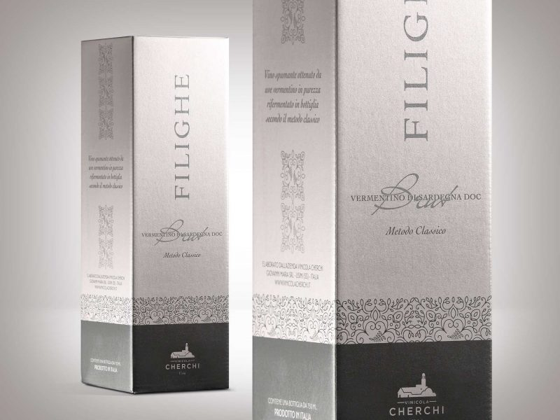 Packaging design astuccio vino Filighe