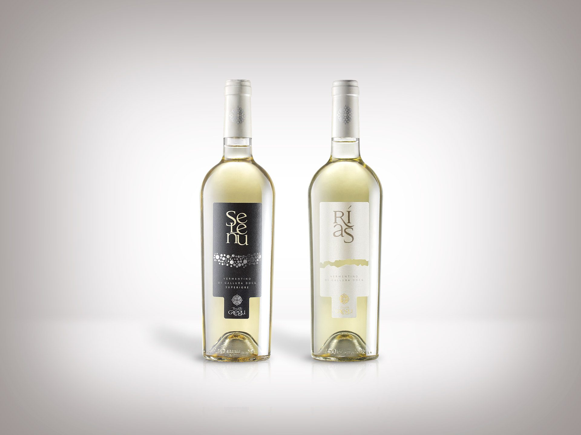 Packaging design etichette vini Tenute Gregu