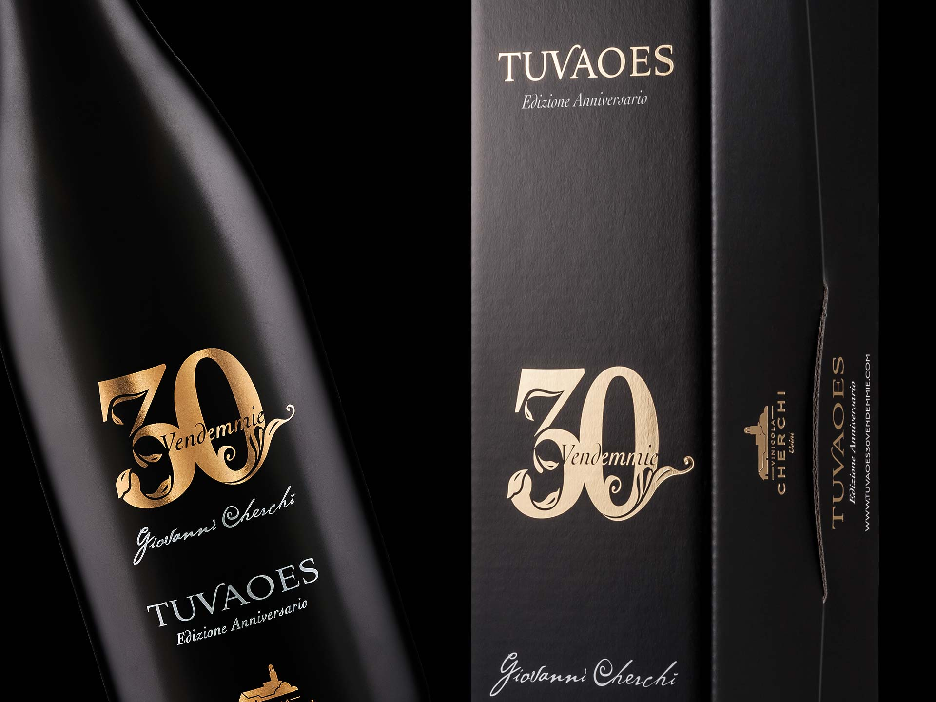 Packaging design vino Tuvaoes 30 Vendemmie