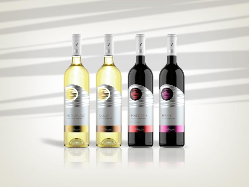 Packaging design etichette vini Tenute Sant'Elena