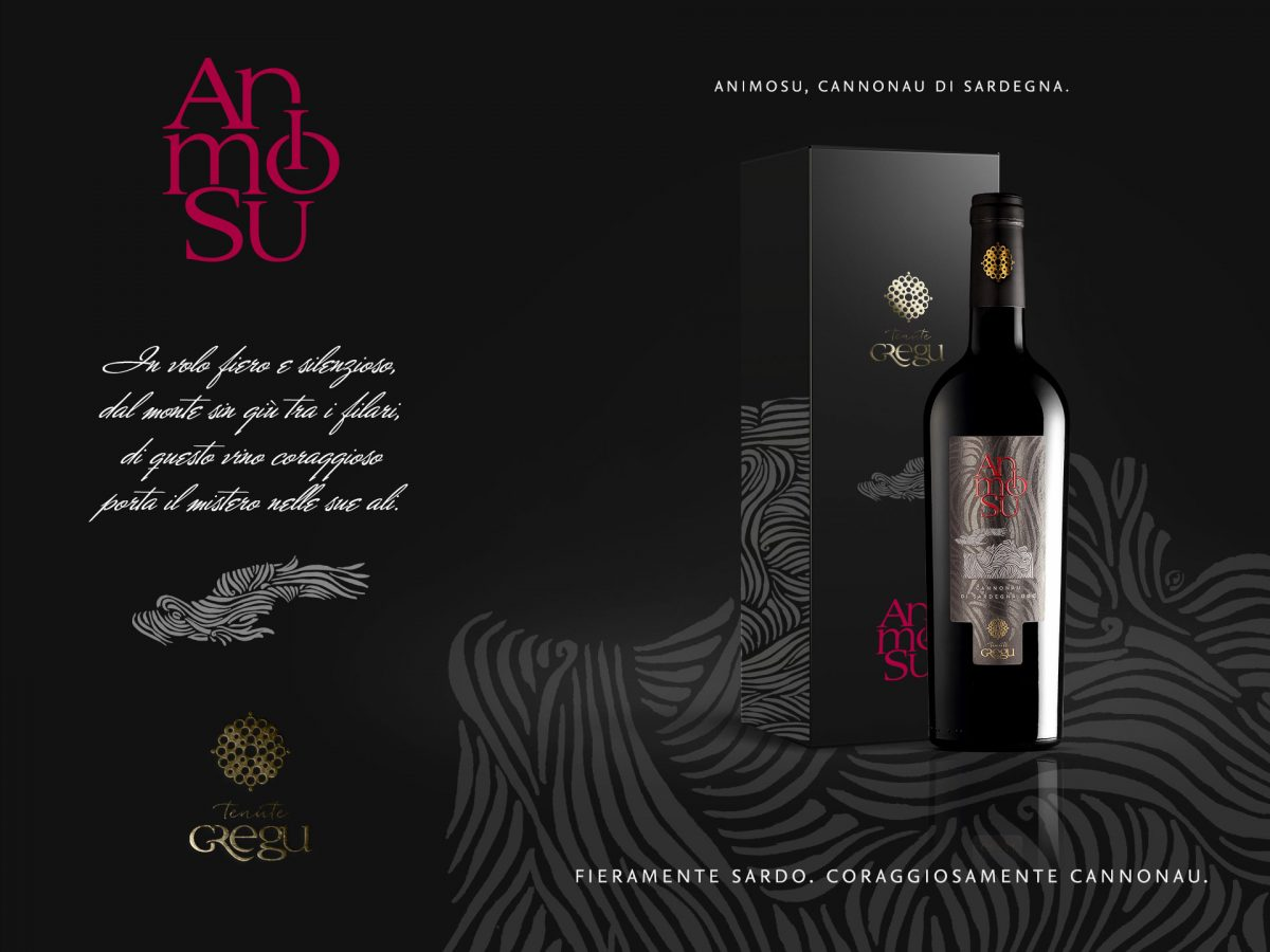 Packaging design vino Animosu - Tenute Gregu