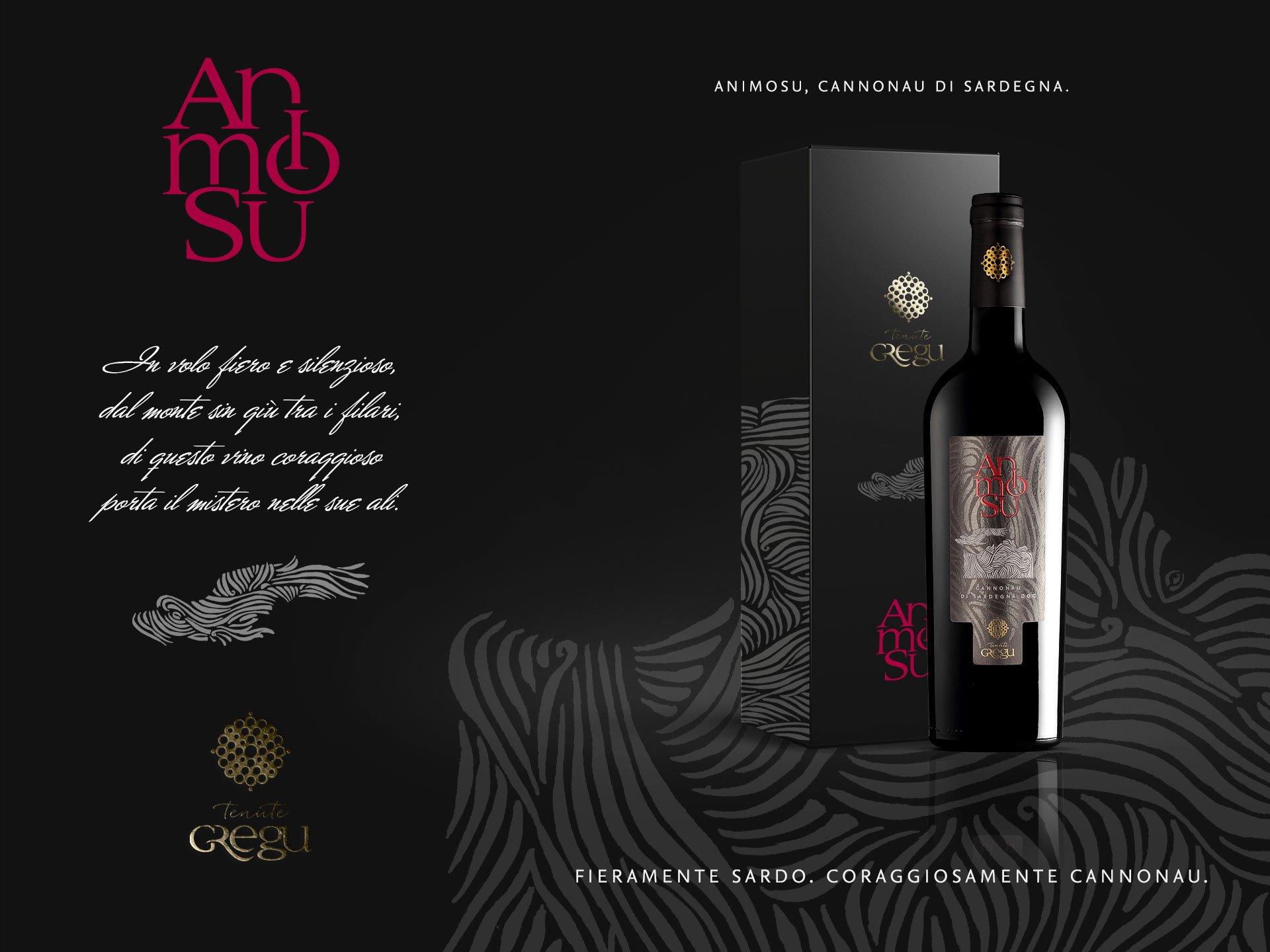 Packaging design vino Animosu - Tenute Gregu
