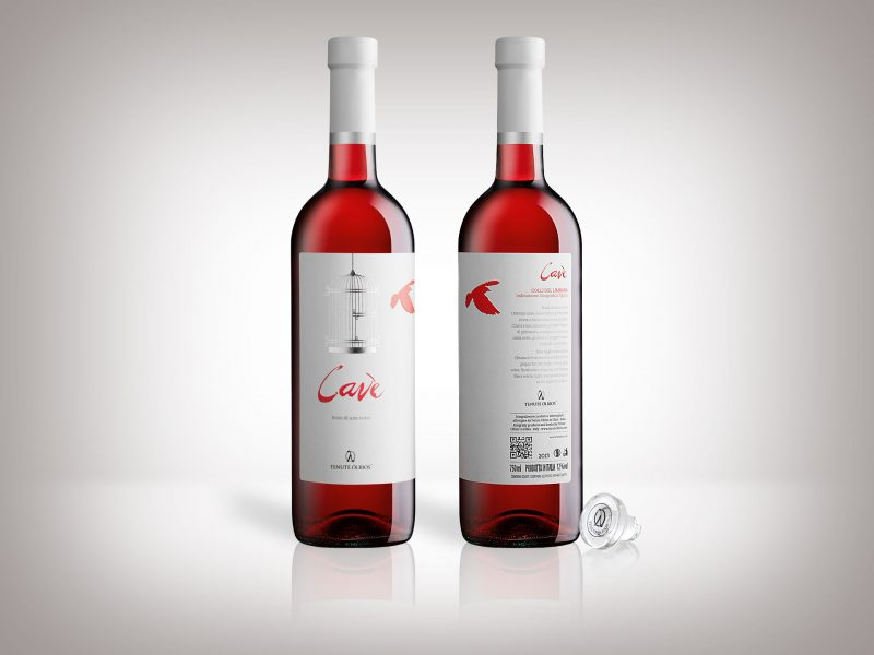 Packagong design vino Cavè Tenute Olbios