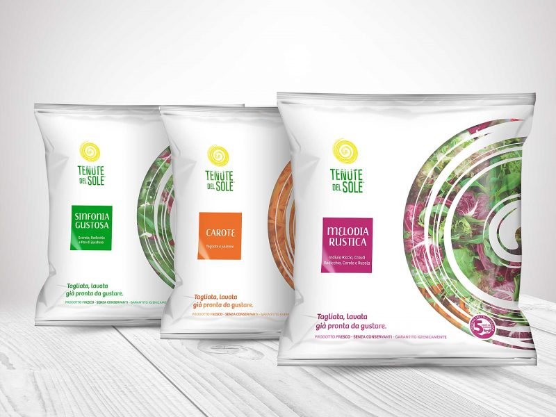 Packaging design insalate in busta