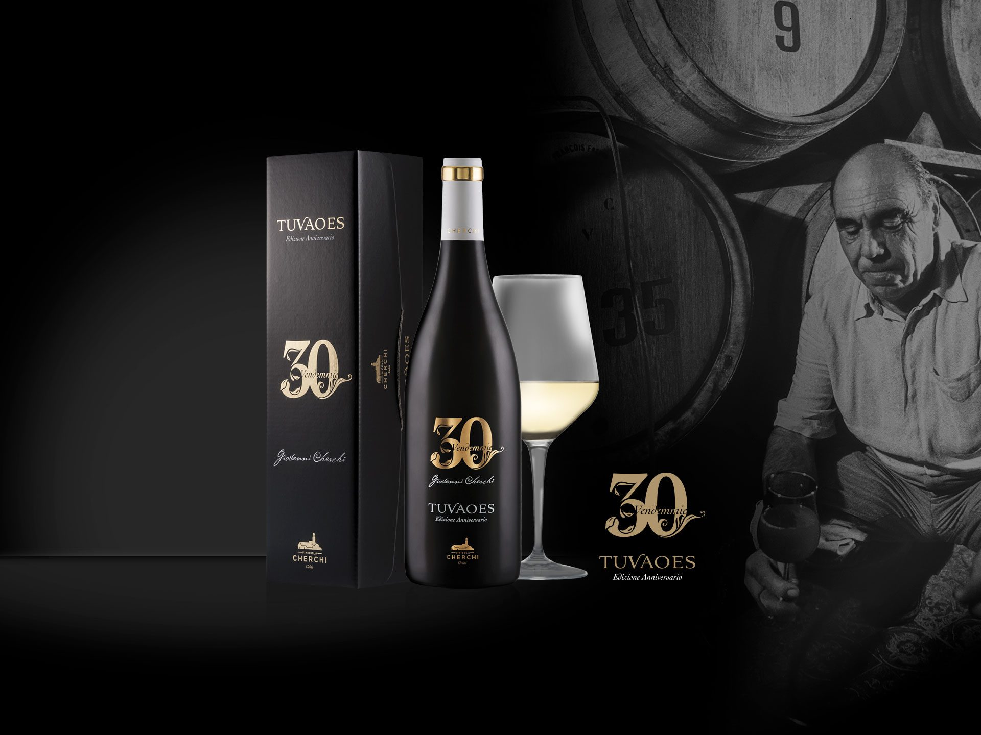 Packaging vino Tuvaoes 30 Vendemmie - Vinicola Cherchi