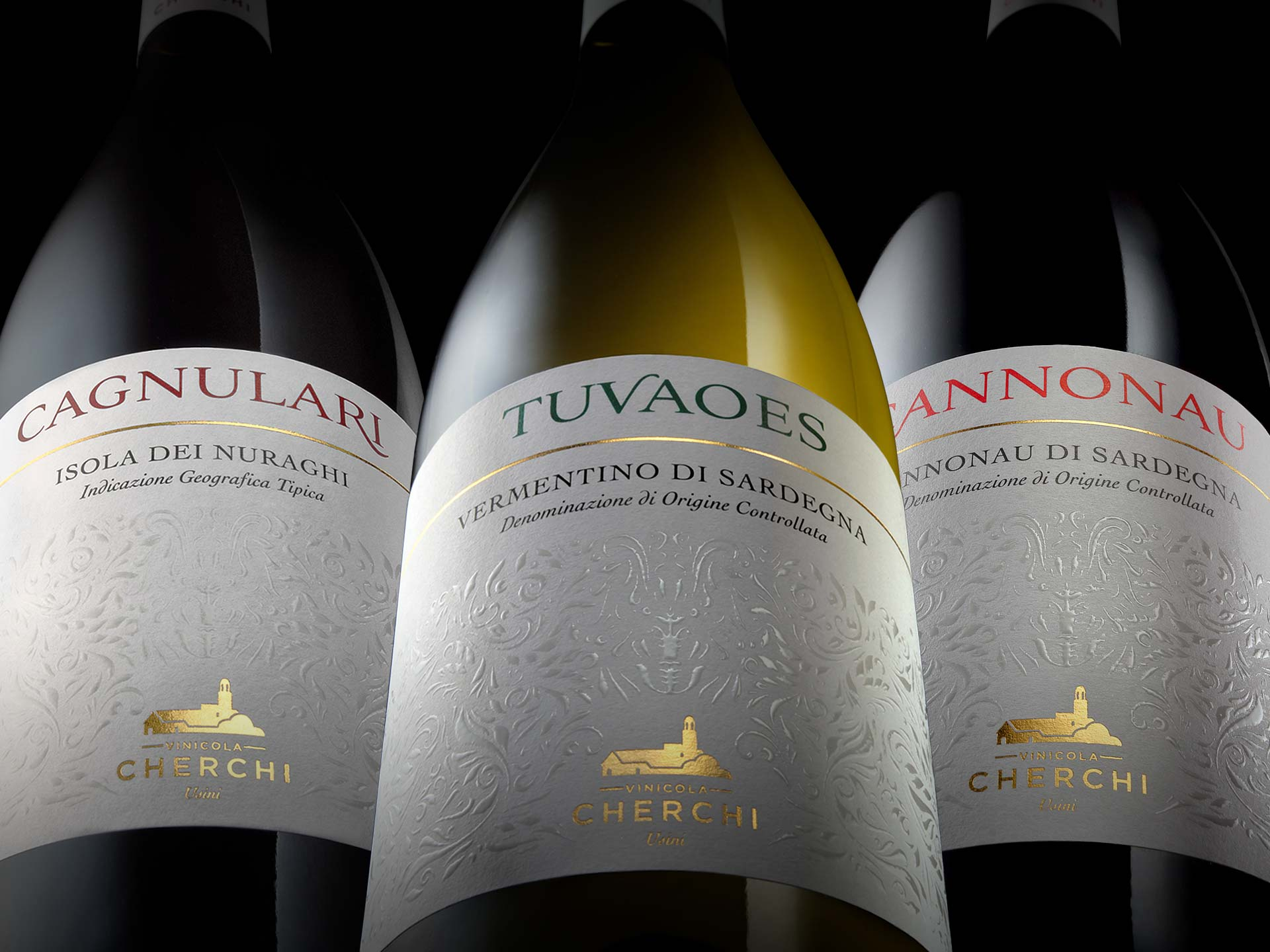 Progetto di restyling etichette vini Cherchi
