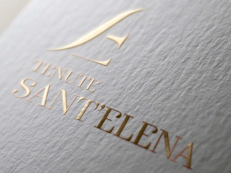 Studio logo Tenute Sant'Elena - Brand cantina vinicola